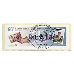 FRANCIA (2012). 66 Salon - Sellos - LISA 1. ATM, mat. P.D.