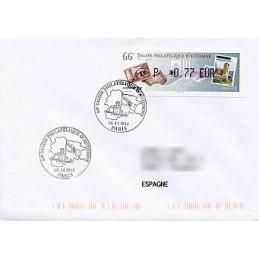 FRANCIA (2012). 66 Salon - Sellos - LISA 1. Sobre P.D. (España)