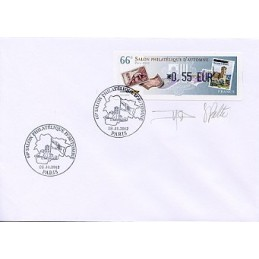 FRANCIA (2012). 66 Salon - Sellos - LISA 1. Sobre P.D. (firmado)