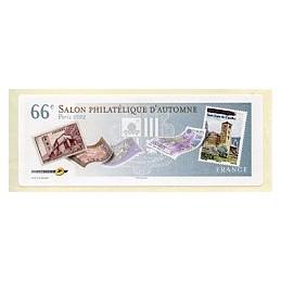 FRANCIA (2012). 66 Salon - Sellos - LISA 1. Etiqueta en blanco