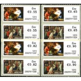 IRLANDA (2012). Navidad - 235027. Serie 8 val. (1er. día)