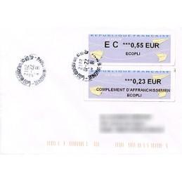 FRANCIA (2012). Aviones papel - WINCOR. Sobre (complement)