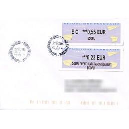 FRANCIA (2012). Aviones papel - IER LISA 2. Sobre (complement)