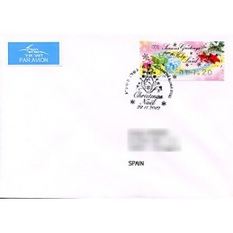 ISRAEL (2012). Seasons Greetings - 001. Sobre P.D. (España)