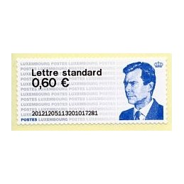 LUXEMBURGO (2012). Gran-Duc Henri - 01. ATM nuevo (no PD)