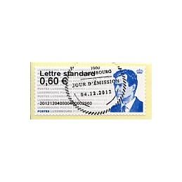 LUXEMBURGO (2012). Gran-Duc Henri - 40. ATM nuevo, mat. P.D.