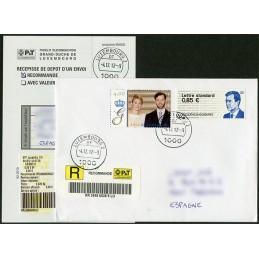 LUXEMBURGO (2012). Gran-Duc Henri - 01. Sobre P.D. (Certificado)