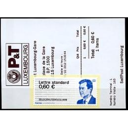 LUXEMBURGO (2012). Gran-Duc Henri - 01. ATM nuevo (PD) + rec.