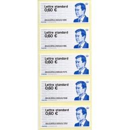 LUXEMBURGO (2012). Gran-Duc Henri - 01. ATMs nuevos (no PD)