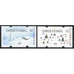 AUSTRIA (2012). CHRISTKINDL 12 (Inv. 5). ATMs nuevos (01)