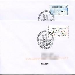 AUSTRIA (2012). CHRISTKINDL 12 (Inv. 5). Sobres P.D. (España)