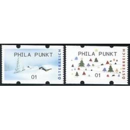 AUSTRIA (2012). PHILA PUNKT (Inv. 5). ATMs nuevos (01)