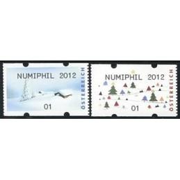 AUSTRIA (2012). NUMIPHIL 2012 (Inv. 5). ATMs nuevos (01)