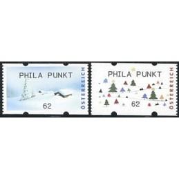 AUSTRIA (2012). PHILA PUNKT (Inv. 5). ATMs nuevos (62)