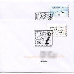AUSTRIA (2012). NUMIPHIL 2012 (Inv. 5). Sobres P.D. (España)