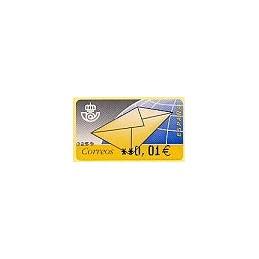 ESPAÑA. 9.2. Carta. EUR-5A. ATM nuevo (0,01)