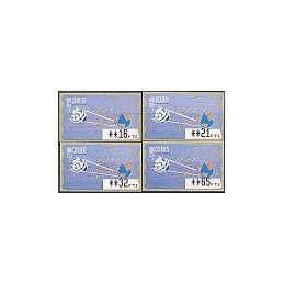 ESPAÑA. 14.1. Espacio - azul claro. PTS-4 CB. Serie 4 val. (1997