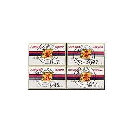 ESPAÑA. 4.3.2. Emblema postal - FNMT. PTS-4CB. Serie 4 val., mat