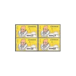 ESPAÑA. 16.2.1. Literatura - Fosf. PTS-5A. Serie 4 val. (1996)