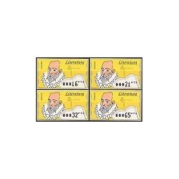 ESPAÑA. 16.2.1. Literatura - Fosf. PTS-5A. Serie 4 val. (1997)