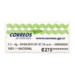 COSTA RICA (2013). Logotipo...