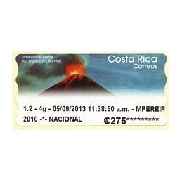 COSTA RICA (2013). Volcán Arenal - Datamax 4. ATM nuevo