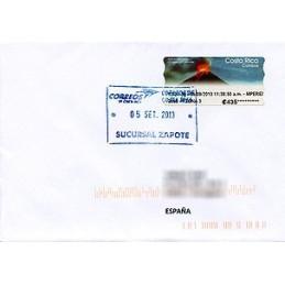 COSTA RICA (2013). Volcán Arenal - Datamax 4. Sobre a España (Prioritario)