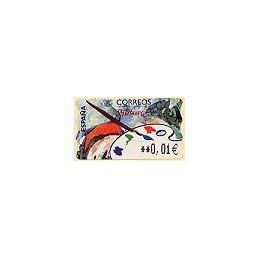 ESPAÑA. 18.2. Pintura. EUR-5E. ATM nuevo (0,01)