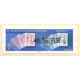 FRANCIA (2013). 67e Salon Philatélique d'Automne - Paris 2013 - Marianne. LISA 1. ATM nuevo (0,56 EUR)