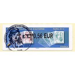 FRANCIA (2013). 67e Salon Philatélique d'Automne - Paris 2013 - Marianne. LISA 2. ATM (0,56 EUR), matasello primer día