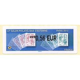 FRANCIA (2013). 67e Salon Philatélique d'Automne - Paris 2013 - Marianne. LISA 2. ATM nuevo (0,56 EUR)