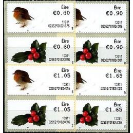IRLANDA (2013). Navidad 2013 - 023527. Serie 8 valores (primer día)