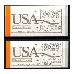 USA (1989). AUTOPOST issue....