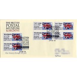 REINO UNIDO (2014). Union flag (1) - 'The B.P.M.A. Postage Due 1914' - A2GB14 A1. Sobre primer día (serie)