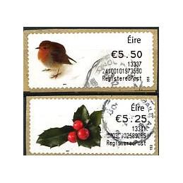 IRLANDA (2013). Navidad 2013. ATMs usados (RegisteredPost)