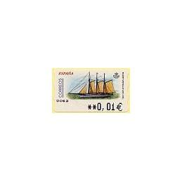 ESPAÑA. 72. Pailebote Santa Eulalia. 5A. ATM nuevo (0,01)