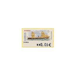 ESPAÑA. 73. Vapor mixto Miguel Pinillos. 5A. ATM nuevo (0,01)
