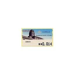 ESPAÑA. 78. Arq. postal - A Coruña. 5A. ATM nuevo (0,01)
