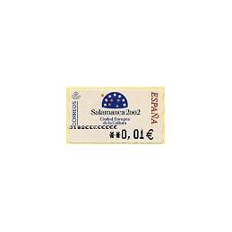 ESPAÑA. 83. Salamanca 2002. 5A. ATM nuevo (0,01)