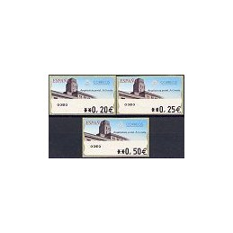 ESPAÑA. 78. Arq. postal - A Coruña. 5A. Serie 3 val.