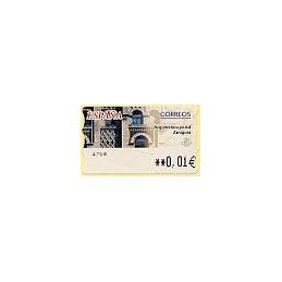 ESPAÑA. 75. Arqu. postal - Zaragoza. 5E. ATM nuevo (0,01)