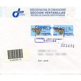 COSTA RICA (1993). Carreta. Sobre primer día (Certificado)