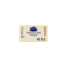 ESPAÑA. 83. Salamanca 2002. 4E. ATM nuevo (0,01)