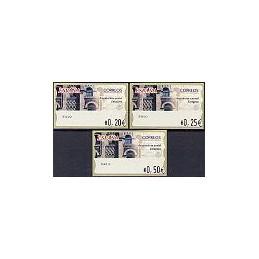 ESPAÑA. 75. Arqu. postal - Zaragoza. 4E. Serie 3 val.