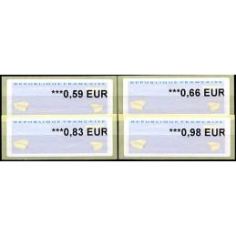 FRANCIA (2014). Aviones papel (2) - Agence Postale Communale. Serie 4 valores (2014)