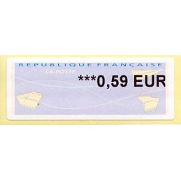 FRANCIA (2014). Aviones papel (2) - Agence Postale Communale. ATM nuevo (0,59 EUR)
