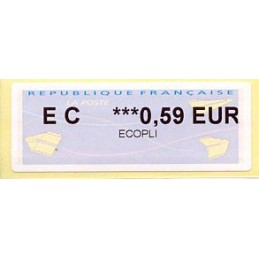 FRANCIA (2014). Aviones papel (2) - Agence Postale Communale. ATM nuevo (0,59 EUR ECOPLI)