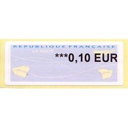FRANCIA (2014). Aviones papel (2) - Agence Postale Communale. ATM nuevo (0,10 EUR)