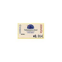 ESPAÑA. 83. Salamanca 2002. 4A. ATM nuevo (0,01)