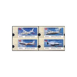 INDONESIA (1996). Aviones - negro - 0001. ATMs nuevos (700)